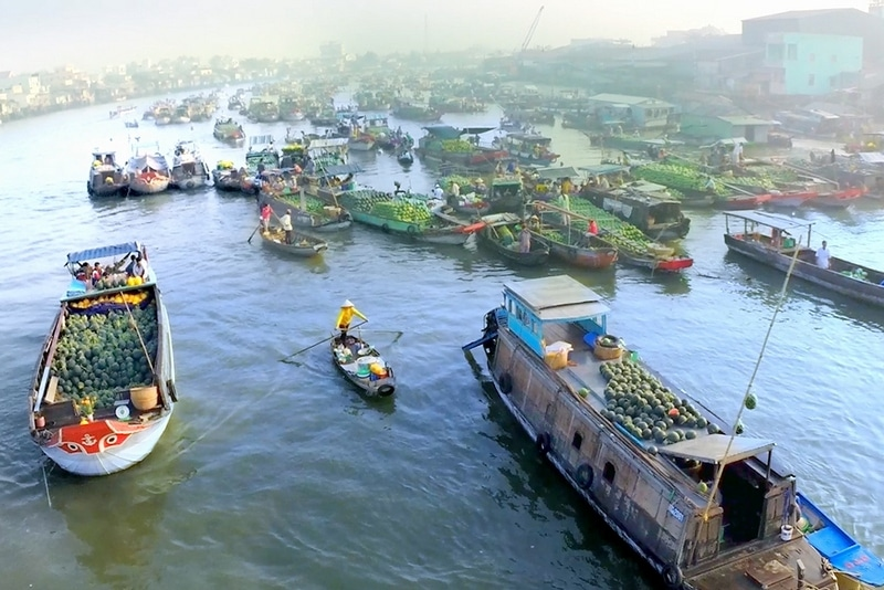 Float in Mekong Delta, Vietnam