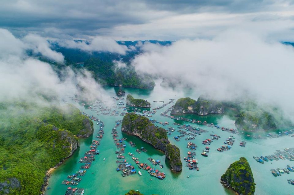 Ha Long Bay and Cat Ba Island - masterpieces of nature from above